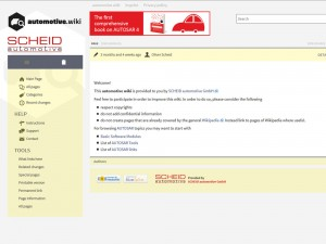Screenshot automotive wiki